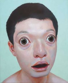 Korehiko Hino Paints Some Seriously Freaky & Creepy Individuals #Art trendhunter.com