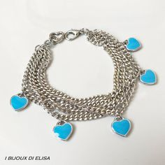 Bracciale Tiffany, bracciale catene, bracciale alluminio, bracciale cuore, bracciale amicizia, idea regalo, bracciale regolabile, nickelfree  #ibijouxdielisa #bracelet #bracciale #tiffany #tiffanyheaqrt #cuore #heart #bracciale #bracelets #handmade #chain #aluminium #heartcharm #heartpendant #madeinitaly #jewellery #jewels #love #amore #lightblue #azzurro