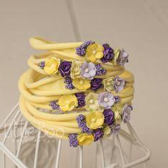 purple yellow headband Newborn toddler adult Organic floral