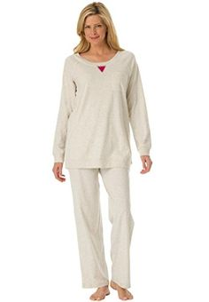 97692cc83 Sexy Nightgown · Dreams Co Womens Plus Size 2Pc Sweatshirt Loungewear Set  Heather >>> Check out this