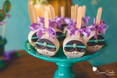 Princess Jasmine sweet pops from Colorful Princess Jasmine Birthday Party at Kara's Party Ideas. See more at karaspartyideas.com!