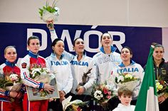 Dwor Artusa Gdansk 2016 team podium: Gold ITALY, Silver RUSSIA and Bronze GERMANY