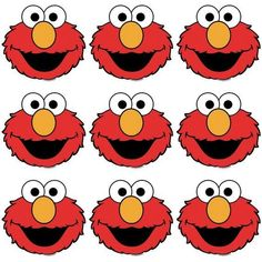 Elmo Eyes Nose and Mouth Template Best Of Elmo Eyes and Nose Template to Print for Favor Bags Elmo First Birthday, Boy Birthday Parties, Baby Birthday, Elmo Cookies, Elmo Cake, Elmo Cupcakes, Elmo Party, Mickey Party, Dinosaur Party