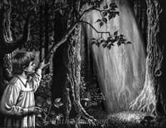 Illustration for THE GOLDEN KEY by Ruth Sanderson