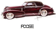 Chip Foose Bringing To Life Cadillac First Sketched And Commissioned In 1935 #Cadillac #Galleries