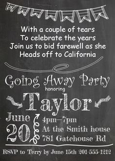 Going Away Party invitations NEW selections summer 2016