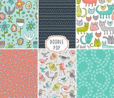 Andie Hanna | Doodle Pop | Surtex 2015 flyer | Make it in Design