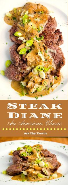 One of my favorite classic dinner recipes is Steak Diane.  This restaurant-style dish is easy to make and would make a delicious  dish for your next date night. by Ask Chef Dennis