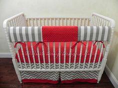 Custom Bumperless Crib Bedding  Teething Rail by BabyBeddingbyJBD, $195.00