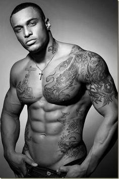 Hunky tattoo model Tribal Tattoo design