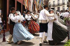 Traditional dancing, La Orotava, Tenerife