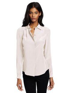 Trina Turk Women's Crystal Blouse, Ivory, Medium $188