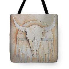 All Tote Bags - Buffalo Shield Tote Bag by Richard Faulkner