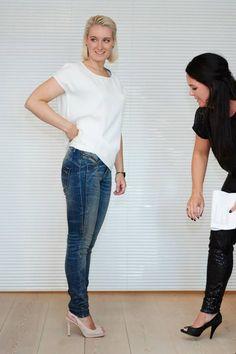 Gold hw slim jeans og Gimli top vises frem til Kick Off på AW15 kollektionen.