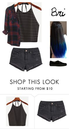 """Xoverbearingxsilencex"" by michytherockerplatypus ❤ liked on Polyvore featuring H&M and Vans"