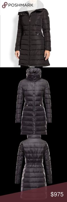 Moncler Coat 100% Authentic Moncler down coat. Has been registered with authenticity code on their website. Black, long, quilted, insanely warm. Has classic Moncler logo on the sleeve. You will not believe how light weight this is. In superb pre-owned condition. The show of wear is extremely faint, and really just comes down to hardly noticeable marks on the zippers. Serious offers and inquiries only, more pictures will be provided upon interest. This best fits a woman's M/L. Marked size 42…
