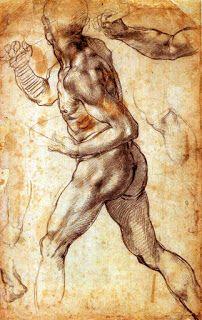 Michelangelo Buonarroti Anatomy Drawing, Anatomy Art, Guy Drawing, Life Drawing, Figure Drawing, Drawing Sketches, Painting & Drawing, Art Drawings, Michelangelo