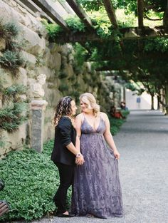 Elegant engagement photos at the Biltmore Mansion two brides same-sex engagement long dress T-shirt Elegant Engagement Photos, Two Brides, Save The Date Photos, Biltmore Estate, Romantic Photos, Lesbian Wedding, Rose Photography, Bridesmaid Dresses, Wedding Dresses