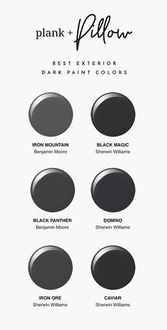 Our Top Picks for Dark Exterior Paint Colors. My current favorites are Sherwin W. - Our Top Picks for Dark Exterior Paint Colors. My current favorites are Sherwin Williams Iron Ore an - Exterior Gray Paint, Exterior Paint Colors For House, Paint Colors For Home, Exterior Design, Exterior Doors, Dark Grey Houses, Dark Paint Colors, Dark Gray Paint, Neutral Paint