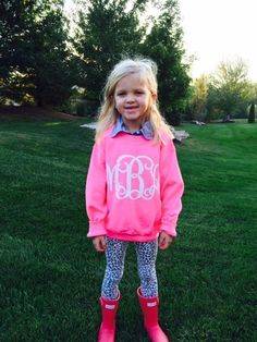 Brand New! Large Monogram Youth Sweatshirt!   Jane