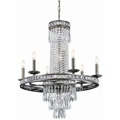Crystorama Mercer Collection 10-light English Bronze Chandelier ($950) ❤ liked on Polyvore featuring home, lighting, ceiling lights, brown, bronze light, light bulb chandelier, mini chandelier lighting, mini light and mini chandeliers