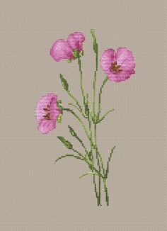 Tiny Cross Stitch, Cross Stitch Flowers, Cross Stitch Designs, Counted Cross Stitch Patterns, Cross Stitch Embroidery, Owl Quilt Pattern, Floral Embroidery Patterns, Knitted Flowers, Cross Stitch Pictures