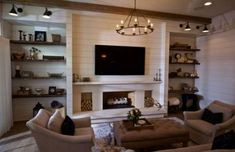 80 Incridible Rustic Farmhouse Fireplace Ideas Makeover - Page 24 of 78 - Abidah Decor Fireplace Frame, Fake Fireplace, Shiplap Fireplace, Farmhouse Fireplace, Fireplace Ideas, Rustic Farmhouse, Tv Stand With Fireplace, Shiplap Paneling, Fireplace Candles