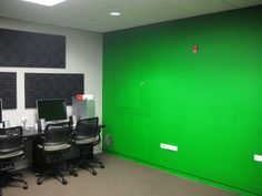 Green screen wall | by Skokie Public Library