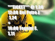 Safe du jour (cote arjel) BIG TICKET SAFE @ 1.38 Tennis United Kingdom ATP Wimbledon 1 2 Tomorr. 12:30 Del Potro J  1.24  Tennis United Kingdom ATP Wimbledon 1 2 Today 16:00 Fognini F. 1.11