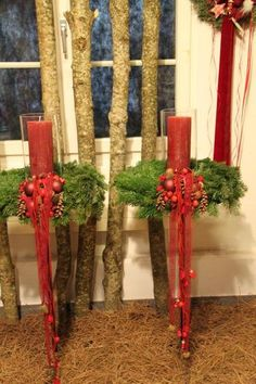 Christmas Images, Merry Christmas, Theme Noel, Christmas Decorations, Table Decorations, Pine Cones, Ladder Decor, Diy And Crafts, Diy Projects