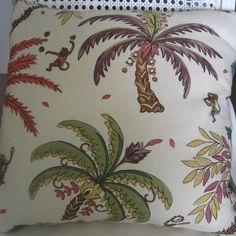 Tropical Pizzazz Handmade Pillow Linen Kaufman by beachsidestyle