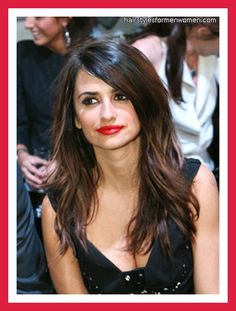 Penelope Cruz - Long Layered Hair
