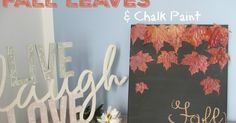 Fall Leaves Canvas Chalk Paint