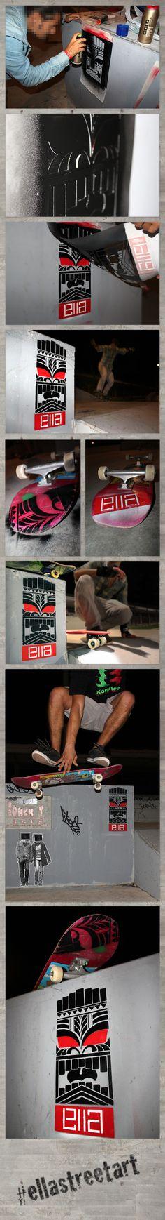 Tiki & Skate by Ella , via Behance