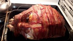 [Homemade] Bacon-wrapped Turkey #food #foodporn #recipe #cooking #recipes #foodie #healthy #cook #health #yummy #delicious