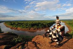Karo man in Korcho, near the mighty Omo river by World_Discoverer, via Flickr