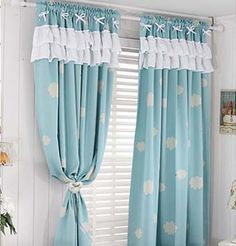 Shabby Chic Curtains, Home Curtains, Floral Curtains, Kitchen Curtains, Window Curtains, Apartment Balcony Garden, Cute Room Decor, Home Crafts, Home Accessories