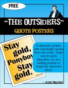 the outsiders bulletin board idea wish the middle schoolers read this book outsiders. Black Bedroom Furniture Sets. Home Design Ideas