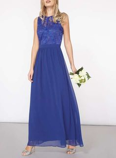 Showcase Cobalt Evening Maxi Dress. See more at http://www.weddingheart.co.uk/dorothy-perkins---bridesmaids-dresses.html or visit click on link to visit shop direct to view current prices.