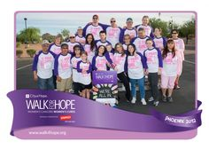 """Specialized Office Systems team members participate in Walk for Hope, Phoenix 2012    Team SOS sported """"Fight Like a Girl"""" shirts during the annual 5k walk supporting cures for women's cancers."""