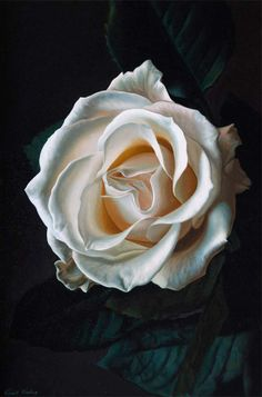 Dressed in white, oil painting, by Irish artist, Vincent Keeling - www.vincentkeeling.com