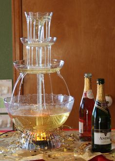 Don't forget the champagne fountain! You can order one inexpensively on Amazon.