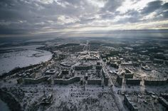 A bird's eye view of the abandoned city of Pripyat, Ukraine [2550 x 1690]