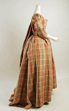 Robe à la Française Date: 1770–90 Culture: probably French Medium: silk Accession Number: C.I.64.33a–c