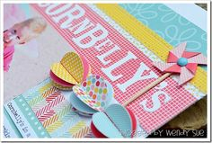 Love these embellishments and colors! Wendy Sue's blog.