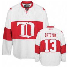 Womens Red Wings  13 Pavel Datsyuk White Third Jersey Nhl News c4ee18d5e