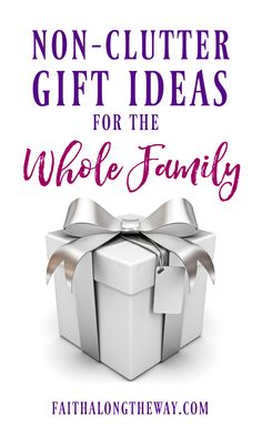 Make #gift giving easy with these non-clutter ideas everyone will love! #giftguide #familygifts #giftideas #kidsgiftguide #husbandgift #WifeGift
