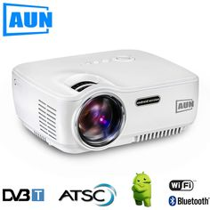 146.90$  Watch now - http://aliqy6.worldwells.pw/go.php?t=32749045270 - AUN Projector AM01S ( Optional DVB-T / ATSC / Android 4.4 WIFI Bluetooth ) 1400 Lumen LED Projector LED TV tuner , HDTV Module