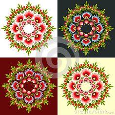 Polish folk design, pattern rossete