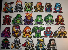Marvel vs Capcom 3- Marvel side by ElisBeadSprites.deviantart.com on @deviantART